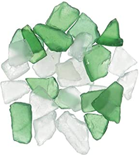 Darice Bulk Buy DIY Sea Glass inch Mesh Bag Green and Frosted Clear Mix 1 lb (3-Pack) 1140-70