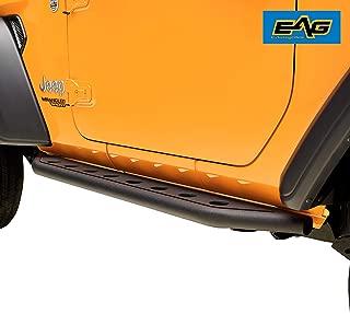 EAG Off-Road Tubular Round Hole Rock Sliders Rock Guard 2 Door Fit for 18-20 Jeep Wrangler JL