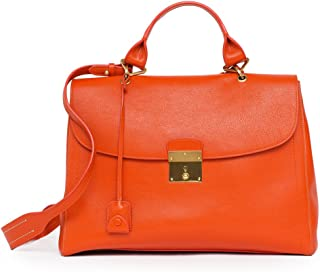 NEW Satchel the 1984leather Bag Handbag Purse Mandarin Orange Italy