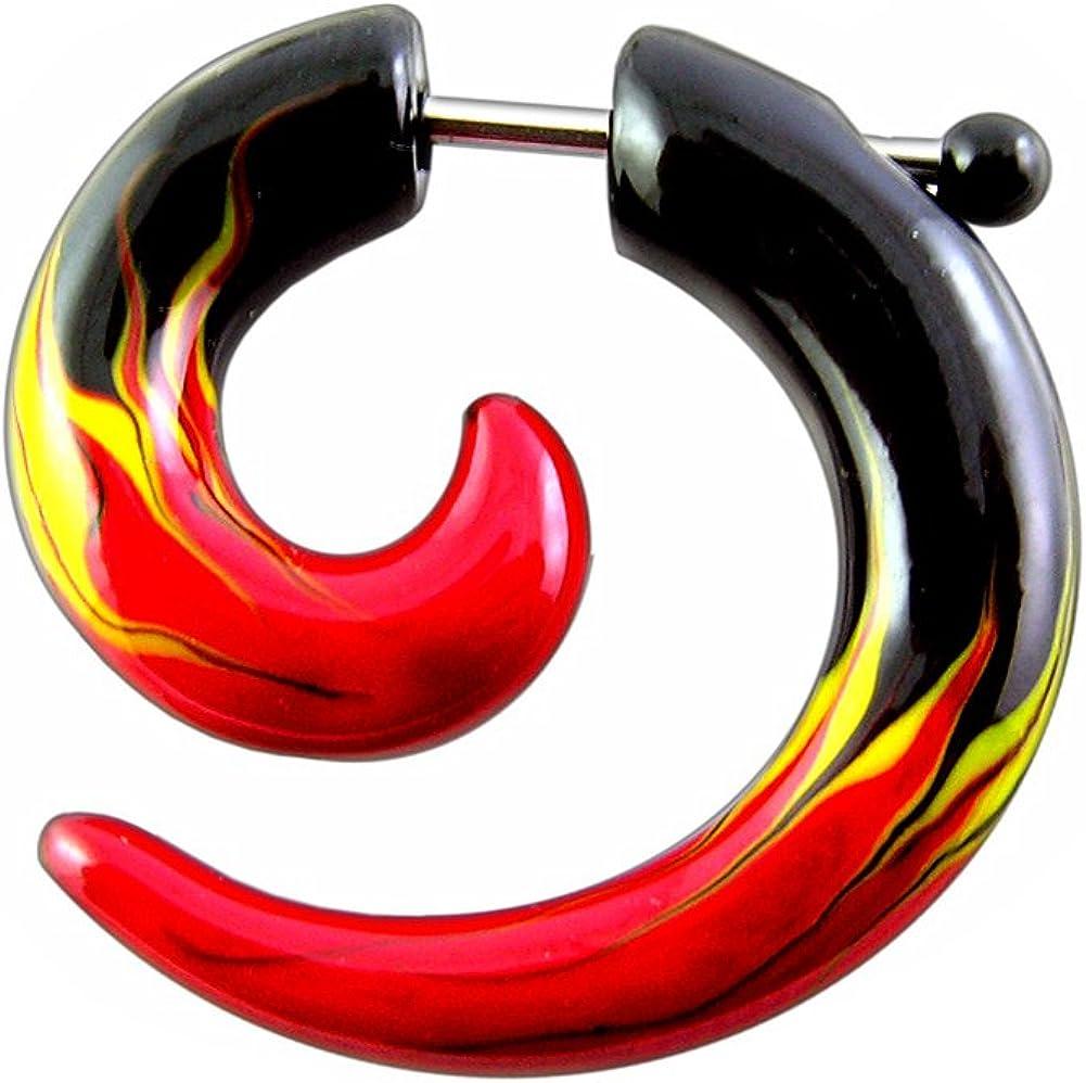 Holy Plug Body Piercing Jewelry Uv Acrylic Ab Coated Glow In The Dark Fake Ear Spiral 4g,2,0