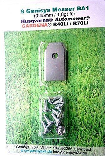 Genisys *9 Messer (extra scharf)* für Husqvarna Automower ® und Gardena R40Li / R70Li