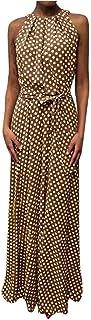 Faldas Mujer Vestido De Playa Sin Mangas con Estampado De Puntos De Verano Casual para Mujer Faldas