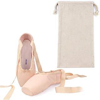 kylebetter2 Satin Ballet Pointe Shoes Professional Girls Ballerina Dance Shoes with Ribbons