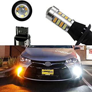 iJDMTOY (2) High Power 42-SMD LED Daytime Running Lights/Turn Signal Lights Conversion Kit For 2015-2018 Toyota Camry LE SE or Special Edition