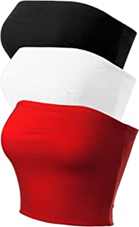 Women's Causal Strapless Cute Basic Solid Cotton Tube Top
