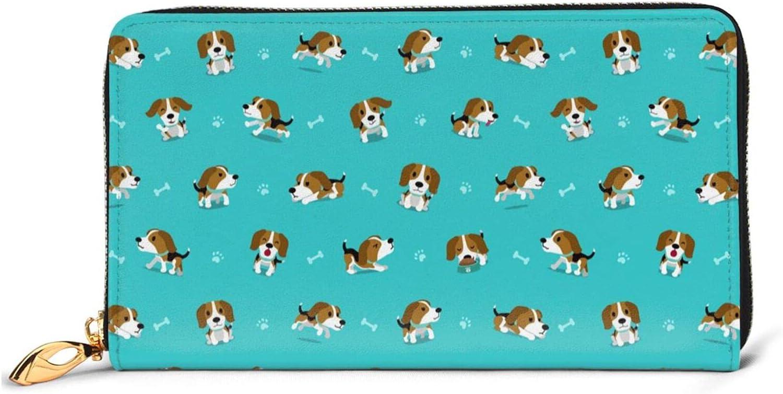Cartoon Dog Leather It is very popular Wallet Women Long Purse Ba High order Around Clutch Zip