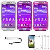 ebestStar - [Kompatibel Samsung [: 136.6 x 69.8 x 7.9mm, 5.0''], Transparent, Lila, Pink