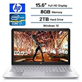 HP 2018 Pavilion 15.6' FHD Flagship Backlit Keyboard Gaming Laptop PC, Intel 8th Gen Core i7-8550U Quad-Core, 8GB DDR4, 2TB HDD, NVIDIA GeForce 940MX Graphics with 4GB DDR3, Windows 10