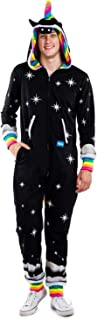Tipsy Elves Men's Night Mare Costume - Dark Unicorn Halloween Jumpsuit