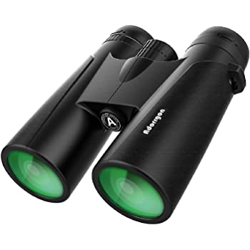12x42 Binoculars for Adults with 18mm Large View Eyepiece & Clear Dim Light Vision - Lightweight Binoculars for Birds Watching Hunting Travel