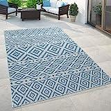 Paco Home In- & Outdoor-Teppich, Für Balkon Und Terrasse Mit Skandi-Muster, In Blau, Grösse:80x150 cm