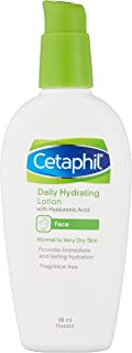 Cetaphil Daily Hydrating Lotion Facial Moisturiser with Hyaluronic Acid, 88 milliliters