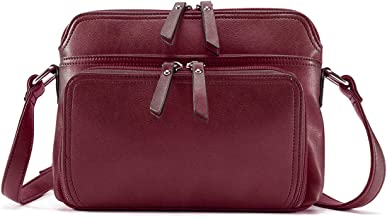 Brenice Women Solid Multi-pockets Casual PU Leather Crossbody Shoulder Bag