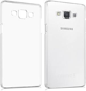 SainCat Funda Galaxy A5 2015 SM-A500F 360 Grados Cobertura para Ambas Caras Carcasa 3 en 1 con Flash Polvo Carcasa Ultra-Delgado TPU Transparente de Silicona Cover para Samsung A5 2015-Oro
