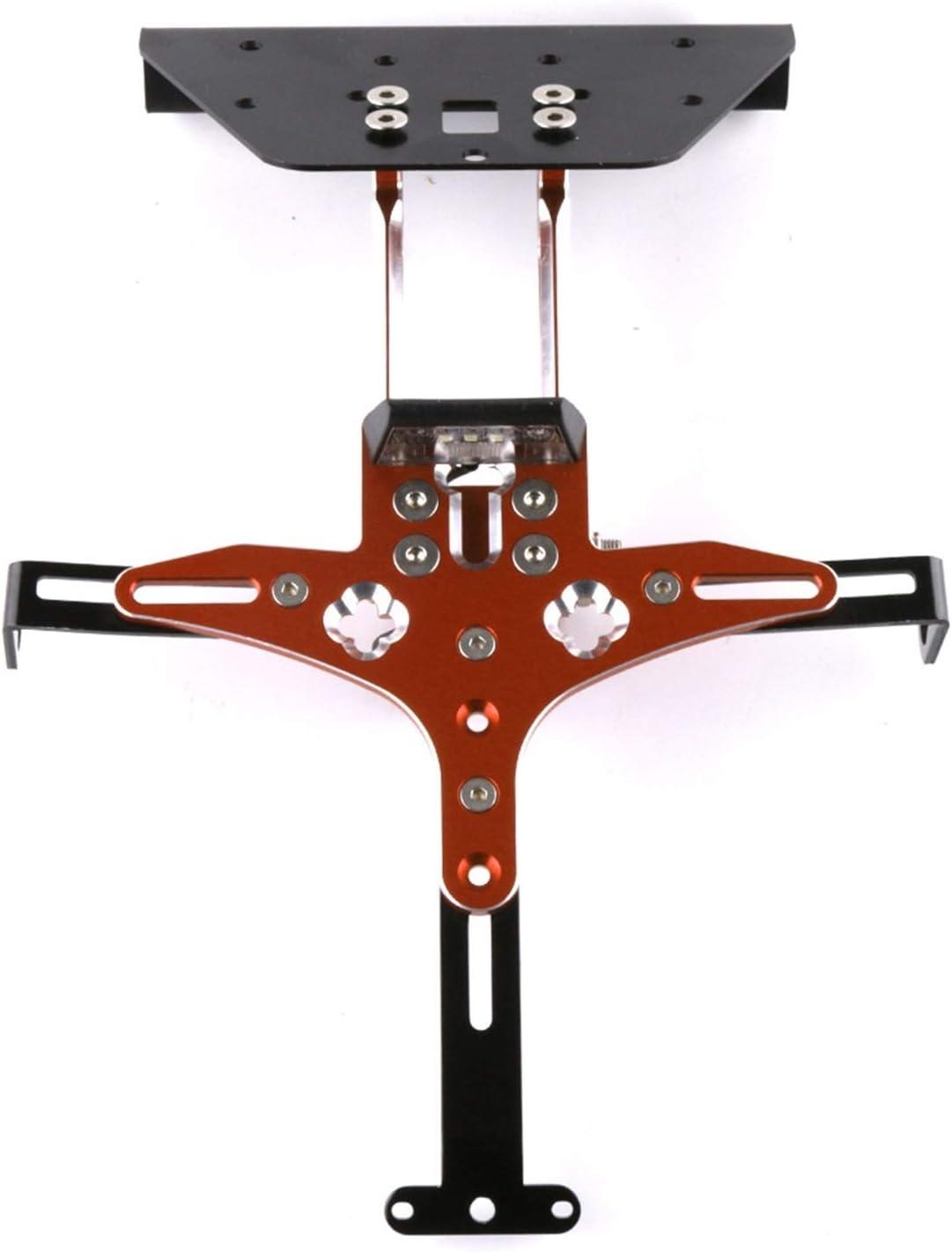 gzcfesbn Motocicleta Scooter Accesorios Registro Número de Licencia Número de Placa Soporte de Soporte Kit de Montaje para Kymco AK550 AK 550 2017 2018 2018 ahgzc (Color : Orange)