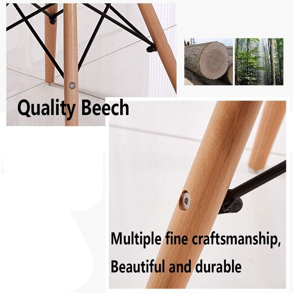 HEJINXL Chaises Salle Manger Comptoir Design Art Tissu Bois Massif Avec Antidérapant Pour Chaise Bureau Salon Maison (Color : E) H