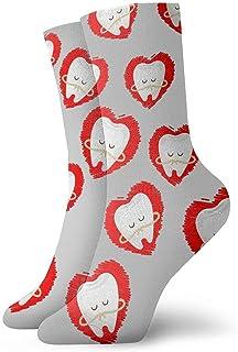 tyui7, Calcetines casuales divertidos estampados con estampado de arte de huevo frito y tocino divertidos para mujer