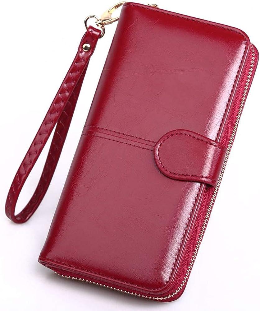 Tobe-u, portafoglio, porta carte di credito e portamonete, in pelle , per donna SS28000-Style 2-Wine RedJP