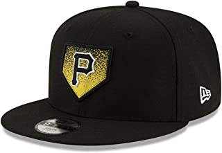 New Era NY Pittsburgh Pirates 9FIFTY Youth Lil Plate Snapback hat, Boys Black Adjustable Cap