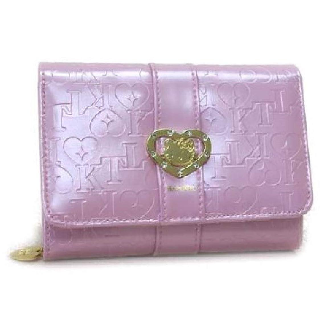 究極の語良さハローキティ HELLO KITTY 二つ折り 短財布 HK14-3 ピンク