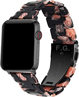 Fullmosa apple watch band Compatible Apple Watch 38mm/40mm/42mm/44mm, Bright Resin Apple Watch Strap for iwatch Band Serie...