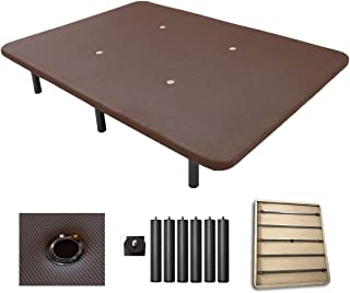 Duermete Base Tapizada 3D Reforzada 5 Barras de Refuerzo y Válvulas de Ventilación + 6 Patas Color Chocolate 105x190