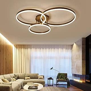 LED Deckenleuchte YANXY Moderne Ring Design Decken Lampe Minimalistisch Fernbedienung Dimmbar Aluminium Acryl Beleuchtung Kinderzimmer Lampe Esszimmerlampe Schlafzimmerlampe Badezimmerlampe