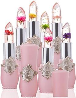 upxiang Faddish Magic Barra de labios hidratador brillante flor cristal Jelly Pintalabios larga duración Temperatura Camb...