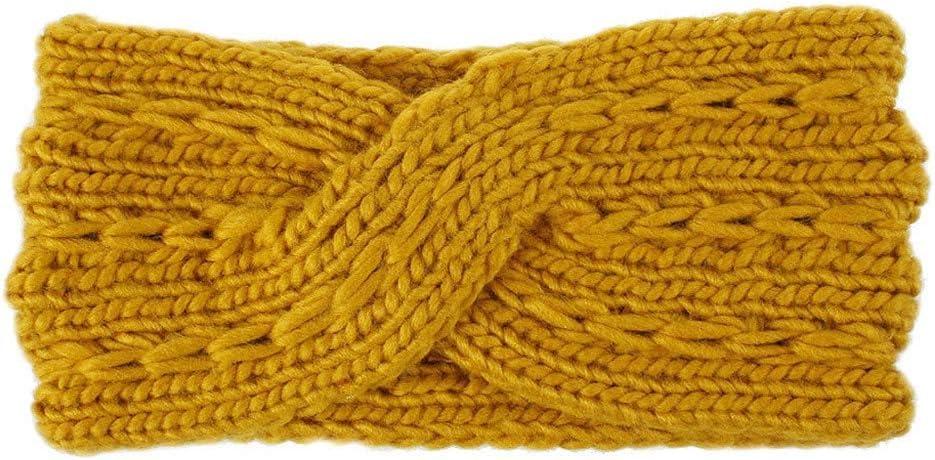 BCDlily Stretch Winter Warm Cable Knit Ear Warmer Turban Headband Women Soft Cozy Headwrap