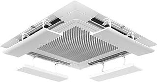 LAFULU(ラフル) エアコン風よけカバー エアコンルーバー 風よけ 風避け 冷房 暖房 風向きを自由に調整 風の直撃防止 壁に穴あけ不要 多機種対応 取り付け簡単(ホワイト1枚入り)