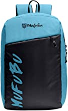 Mufubu Presents Iconic Plus Slim Casual Laptop Backpack Bag for Students & Office Professionals (Navy Blue & Sky Blue)