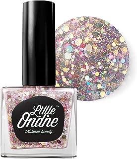 Little Ondine Peel Off Glitters, Fast Dry Zero Smell Non-Toxic Natural Nail Polish (L802-Waltz)