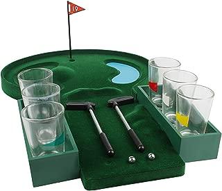 Andux Mini Tabletop Golf Shot Glass Drinking Game Set GEFYXTZ-01