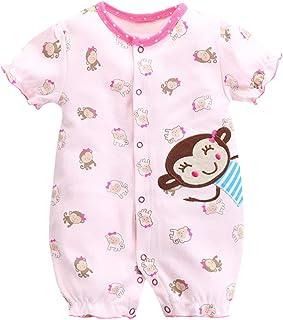 f6b75ab778 Baby Sommer Spieler Strampler Mädchen Baby-Schlafanzüge Einteiler mit  Kurzen Beinen
