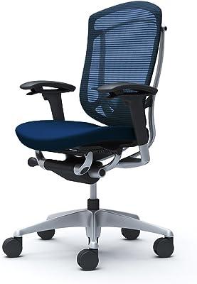 オカムラ オフィスチェア コンテッサ セコンダ 可動肘 ハイバック ウレタンキャスター仕様 クッション ダークブルー CC83YS-FPC4