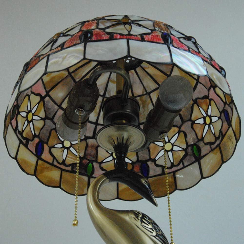 Lampe De Table Tiffany Style Shell Vitrail Abat Lampe De Chevet 12 Inch Lampe À Toser Pour Living Room Chambre Cafe Bar Bureau,K C