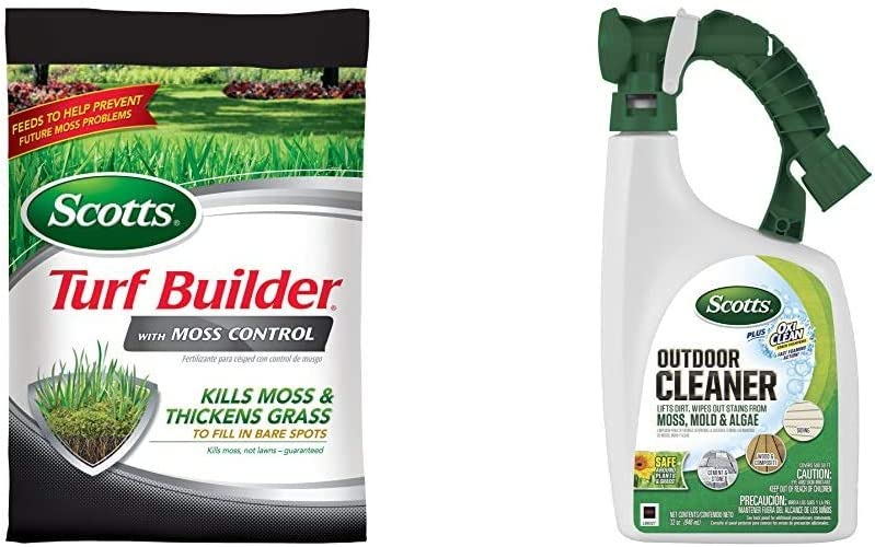 Scotts Turf Builder with Max 68% OFF Moss Control Cleaner LB Outdoor High quality Plus 50