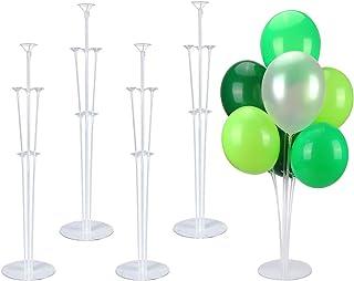 Sinwind 4 stuks ballonstaafhouders ballonstandaard set ballonstandaard ballonaccessoires tafelhouder decoratie voor verjaa...