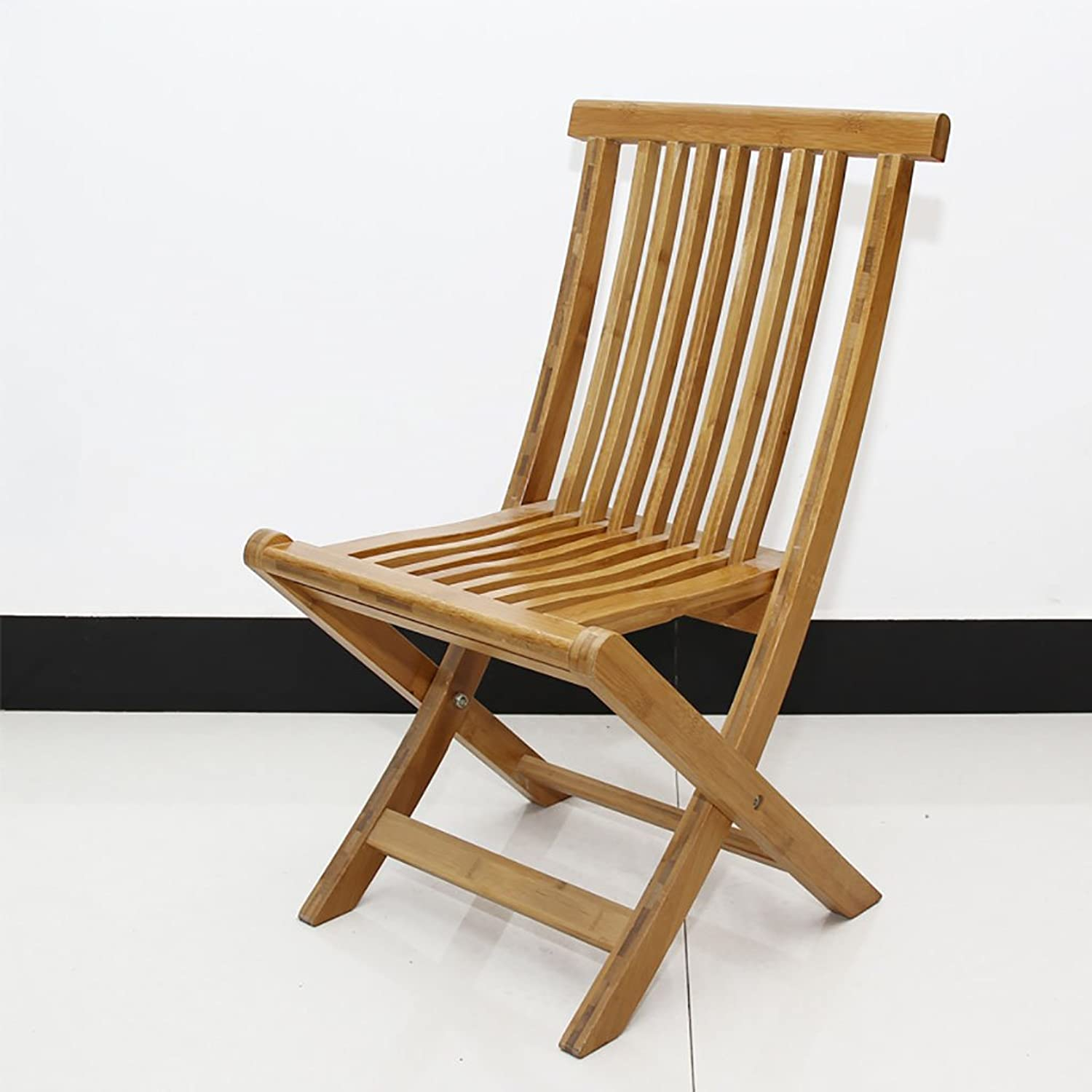 Chair Folding Bamboo Folding Chair Curved Folding Backrest Chair (Size   L)