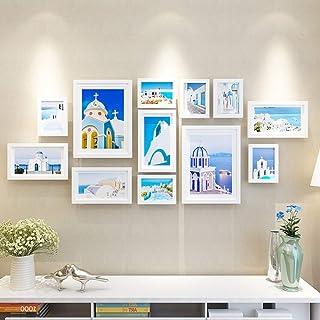 OH Conjunto de marcos de fotos de madera en el centro comercial residencial montado en la pared- Marcos de fotos modernos ...