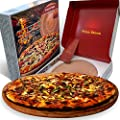 """Tuida Stone - Pizza Stone for Oven. 13 inch Round Ceramic Baking Stone for Bread, Cooking Stone for Oven, Perfect for Charcoal, Gas Grills, BBQ and Campers, 3/4"""" Extra Thick for Crispy Baked Pizza"""