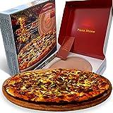 Pizzastein für Ofen, runder Brotbackstein, 33 cm, sicher für den Einsatz in Öfen,...