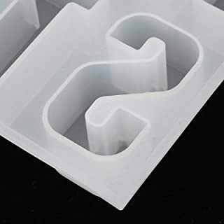 DIY Casting Accessories DIY Hand-Made Mold Letter Molds, Casting Mold, Silicone Casting Mold for Making 3D Letters Jewelry...