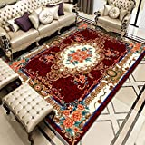 ZAZN European-Style Printed Rectangular Rug, Large Area Blankets In The Living Room, Sofa and Bedroom, Thick Non-Slip Coffee Table, Bedside Mat