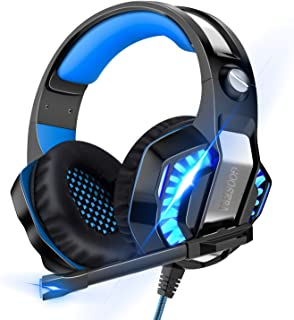 【令和進化版】 ヘッドセット ps4 有線 ゲーミングヘッドセット 高音質 ヘッドホン USB マイク付き ヘッドフォン ゲーム用 switch PCパソコン スカイプ fps 対応 男女兼用 (ブルー)