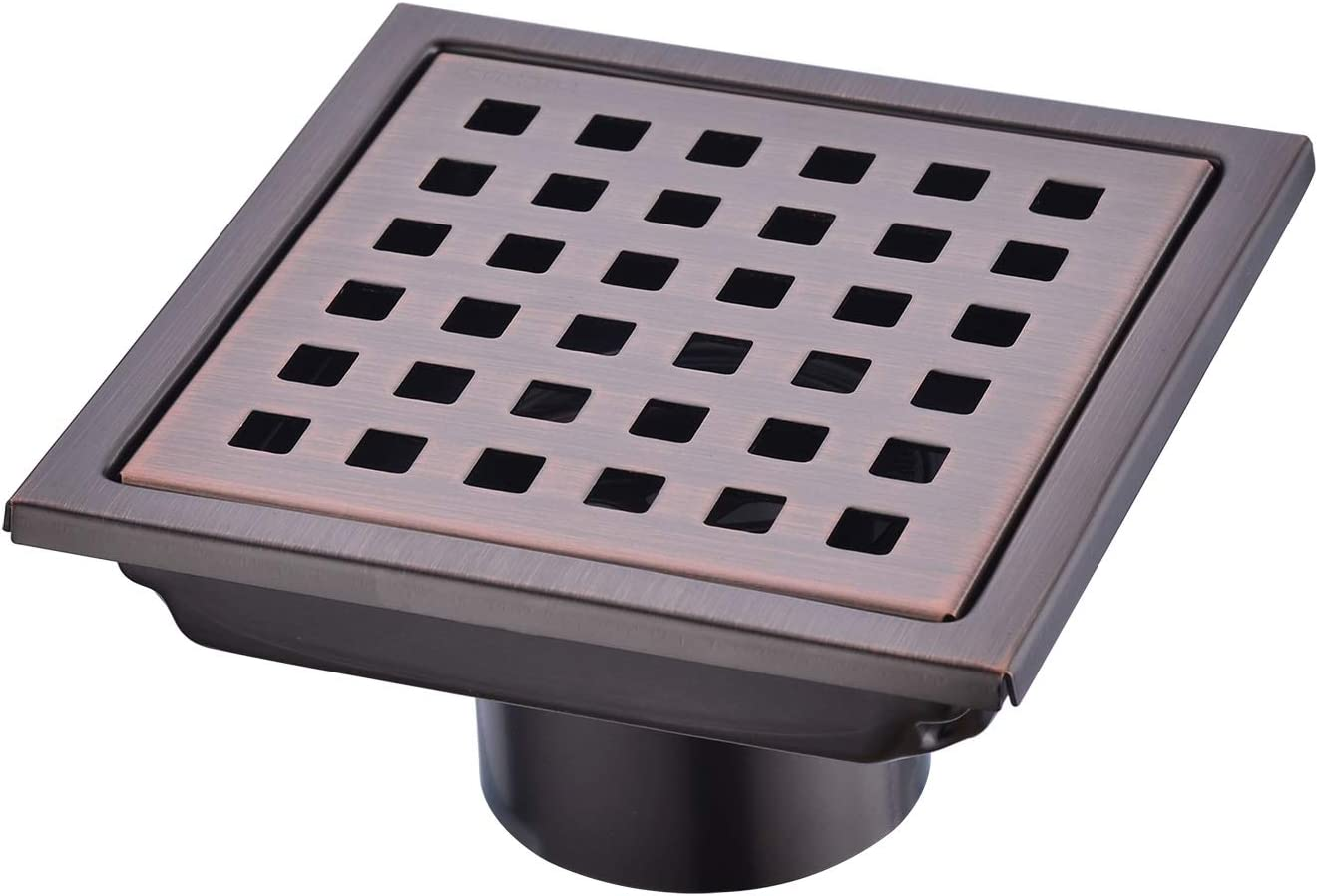 Square Shower Drain 4 inch Max 65% OFF Nicmondo 304 New sales Point Steel C Stainless