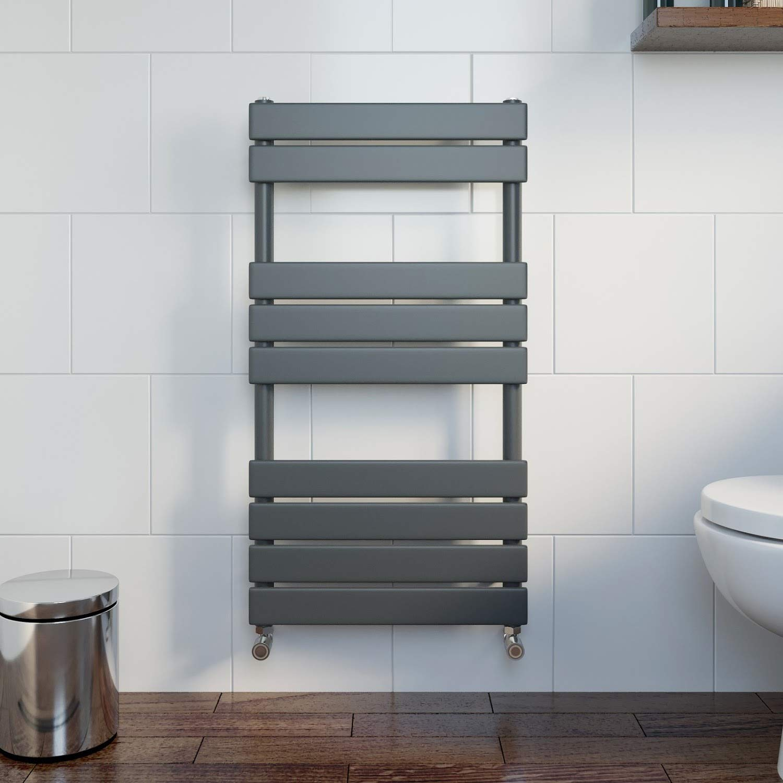 Radiator Towel Rail Modern Central Heating Space Saving Radiators Flat Panel Heated Towel Rail Bathroom Towel Warmer 650x400mm,Wall Mounted Anthracite Radiator Ladder