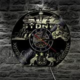 xcvbxcvb Sydeney Cityscape Wall Clock Australia Sydeney Skyline Reloj de Pared con Registro de Vinilo Relojes de Pared 3D Reloj de diseño Moderno Regalos de Viaje