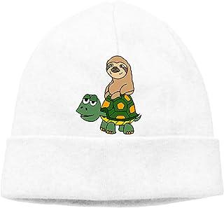 e0751b0d855 Ghhpws Cute Funny Sloth On Turtle Unisex Beanie Wool Hats Knit Skull Caps  Warm Winter Beanies