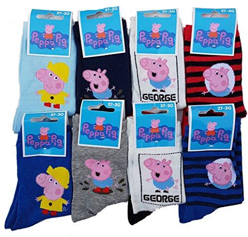 Chaussettes Enfant Peppa Pig Confort et fantaisie en coton -Assortiment modèles photos selon arrivages- (19/22, Pack de 6 asst garçon)